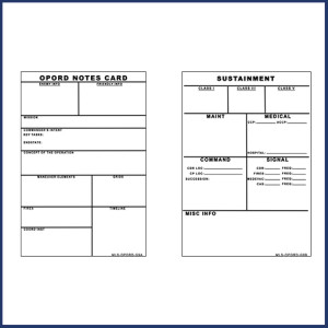 OPORD Notes Briefing Card